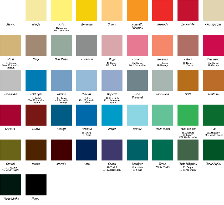 Alc ntara d rico esmalte sint tico brillante - Paleta de colores titanlux ...